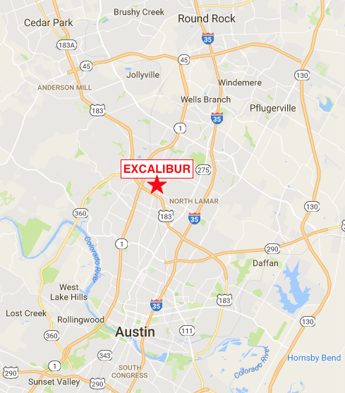 Click for Google Maps directions to Excalibur Auto Repair in Austin, TX